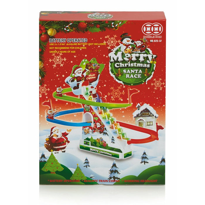 Merry Christmas Santa Race With Lights & Music Battery Operated