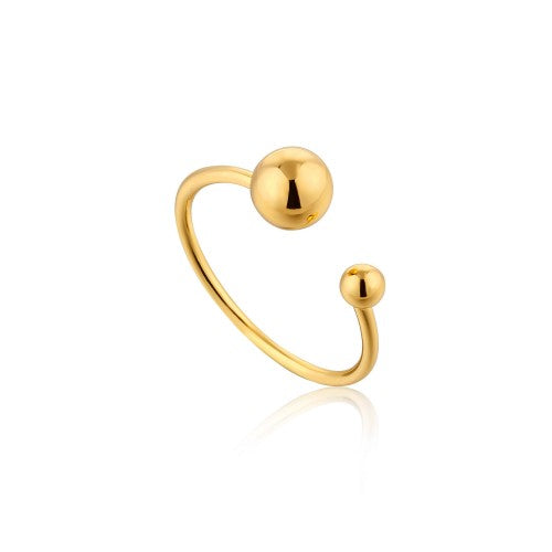 Ania Haie Orbit Adjustable Gold Ring