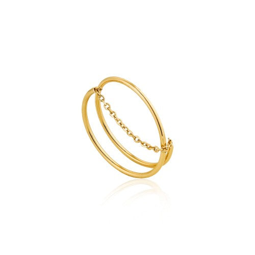 Ania Haie Modern Twist Chain Gold Ring