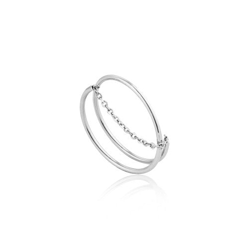 Ania Haie Modern Twist Chain Silver Ring
