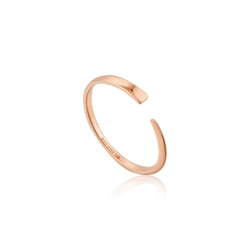 Ania Haie Geometry Flat Adjustable Rose Gold Ring