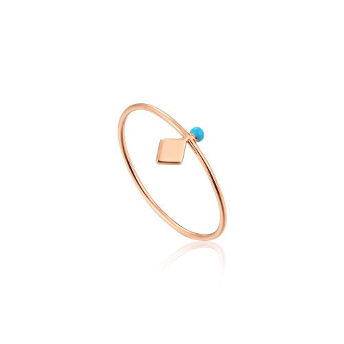 Ania Haie Dotted Stud Rose Gold Ring