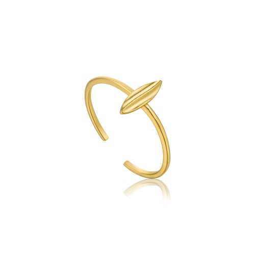 Ania Haie Tropical Lead Adjustable Gold Ring