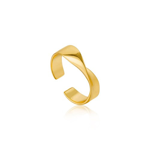 Ania Haie Twister Helix Adjustable Gold Ring