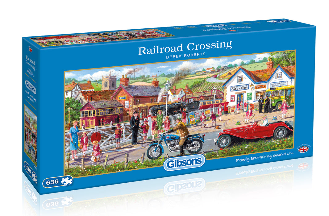 Gibsons Railroad Crossing 636pc Jigsaw Puzzle