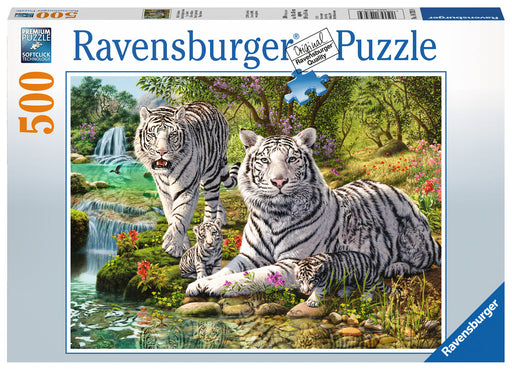 Ravensburger White Tiger Family 500 Piece Jigsaw Puzzle