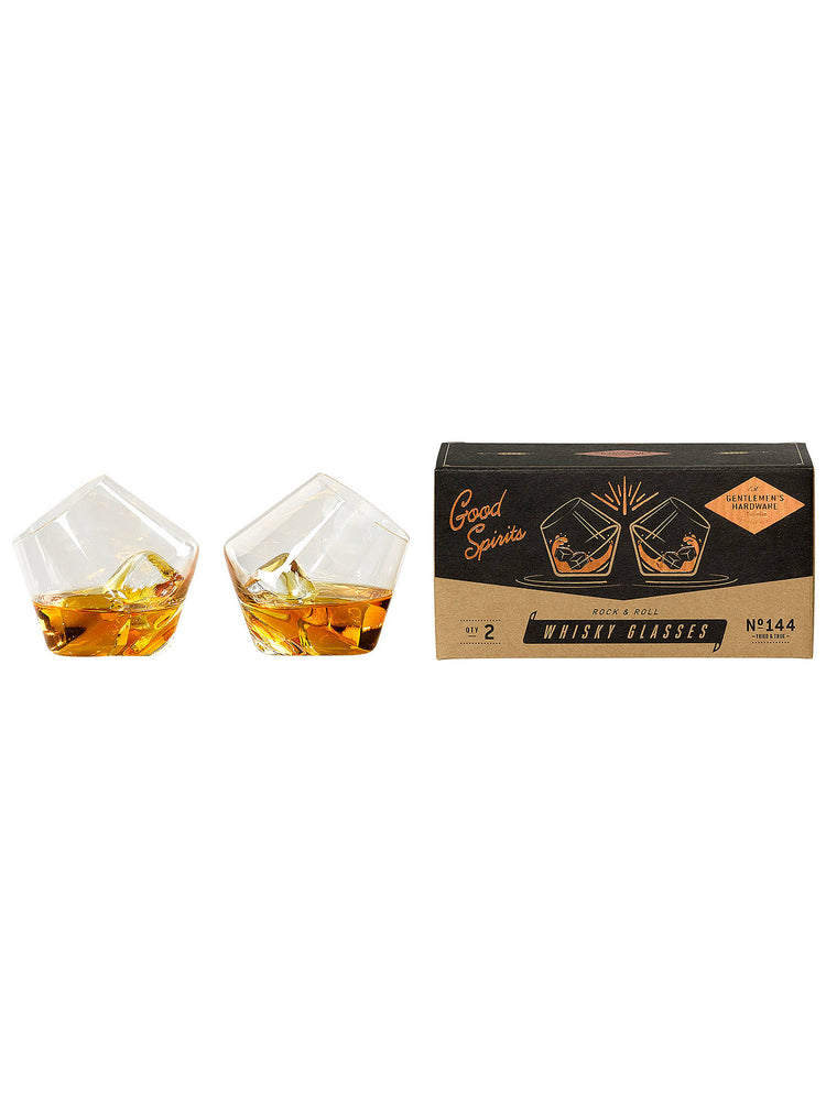 Gentleman's Hardware Rock and Roll Whisky Glasses