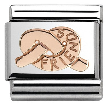 Nomination Classic Rose Gold Friendship Knot Charm