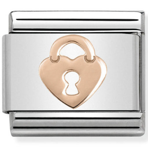 Nomination Classic Charm - Rose Gold Heart Lock