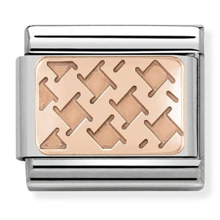 Nomination Classic Charm - Rose Gold Houndstooth