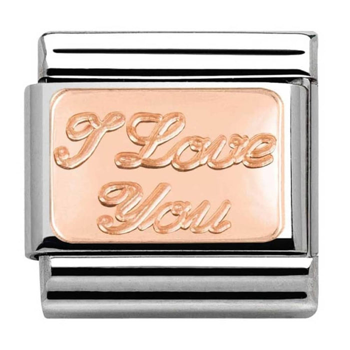 Nomination Classic Rose Gold I Love You Charm