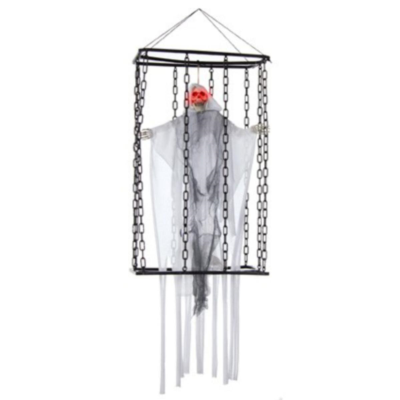 Halloween Battery Operated 70cm White Caged Reaper