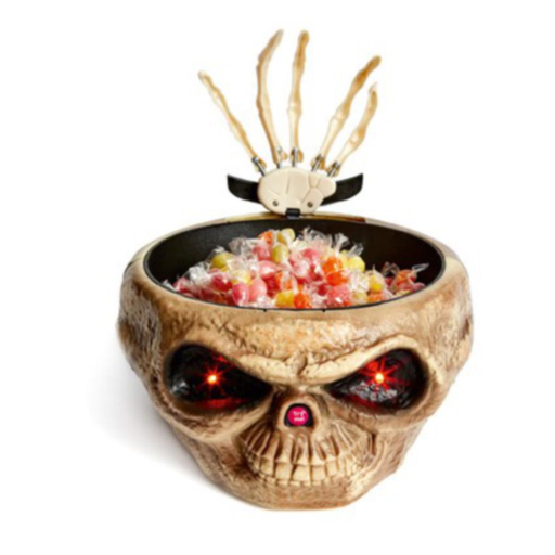 Halloween Animated Skull Sweet Bowl