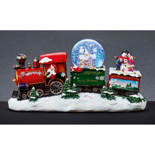Snowing Train Waterglobe with Music