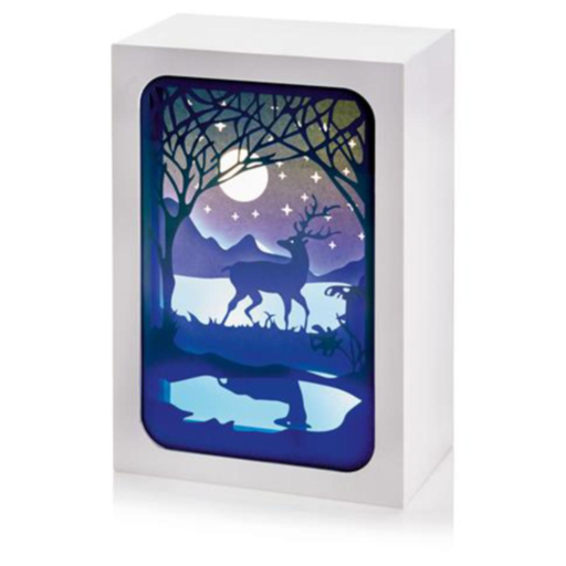 Paper Diorama with Moonlight Scene