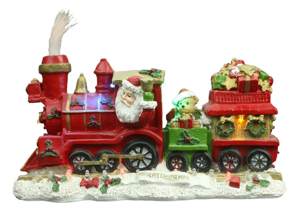Light Up Santa Train 24cm