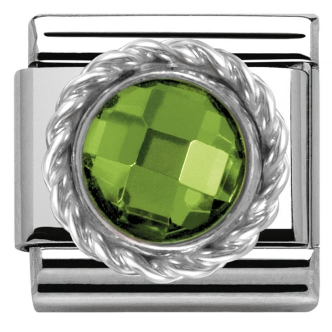 Nomination Classic Charm - Green Round Faceted Stone