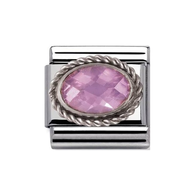 Nomination Classic Charm - Pink Oval Stone