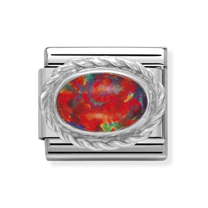 Nomination Classic Charm - Red Opal Stone