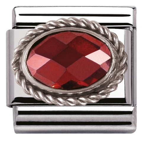 Nomination Classic Charm - Red Oval Stone