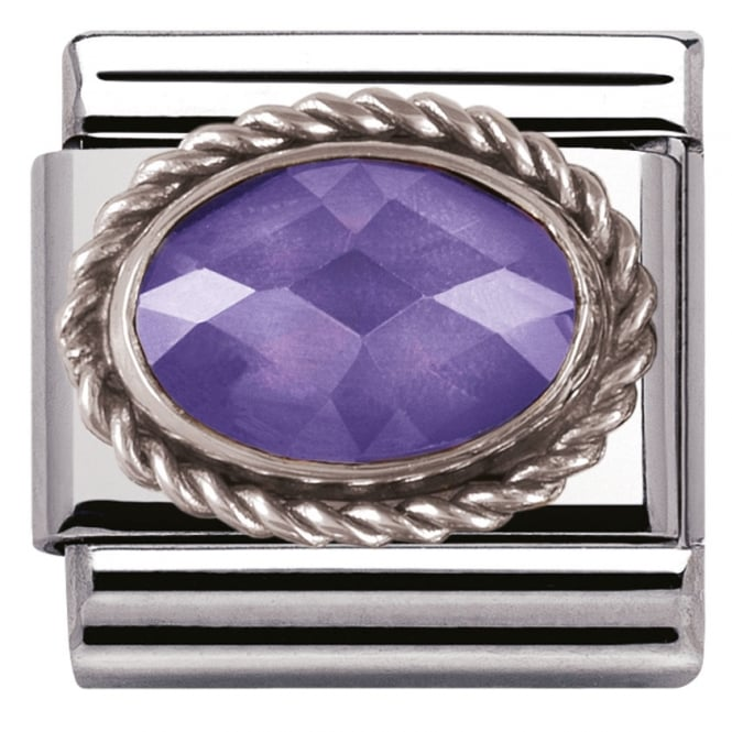 Nomination Classic Charm - Purple Oval Stone