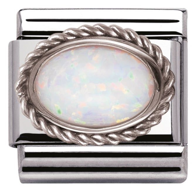 Nomination Classic Charm - White Opal Stone