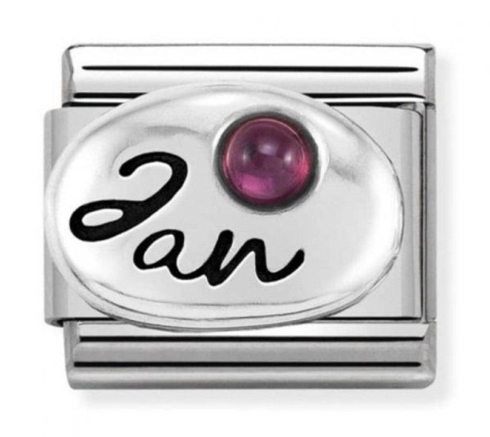 Nomination Classic Charm - January Garnet Birthstone Charm