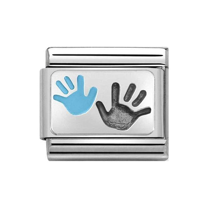 Nomination Classic Charm - Silver Son and Parent Hands