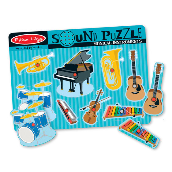 Melissa and Doug Musical Instruments Sound Puzzle - 8 Pieces