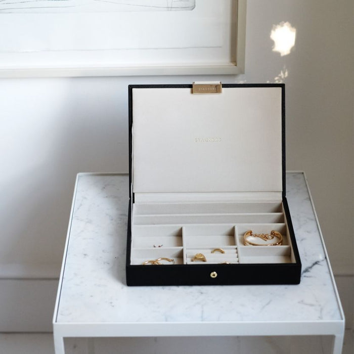 Stackers Black Classic Jewellery Box Lid