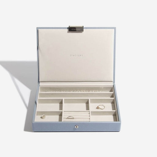 Stackers Dusky Blue Classic Jewellery Box Lid