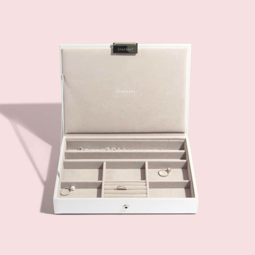 Stackers White Classic Jewellery Box Lid