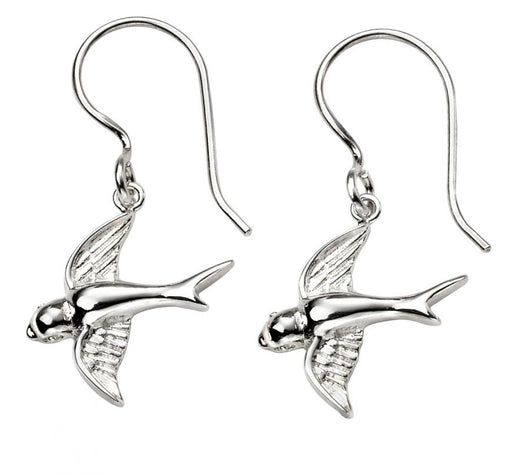 Sterling Silver Animal Earrings Swallow
