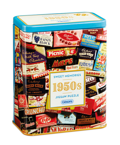 Gibsons 1950s Sweet Memories Jigsaw Gift Tin