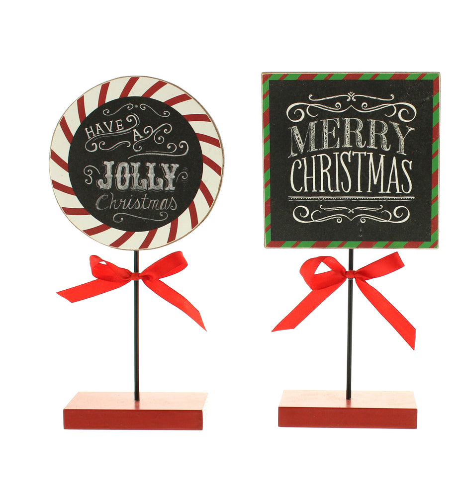 Festive Table Top Signs