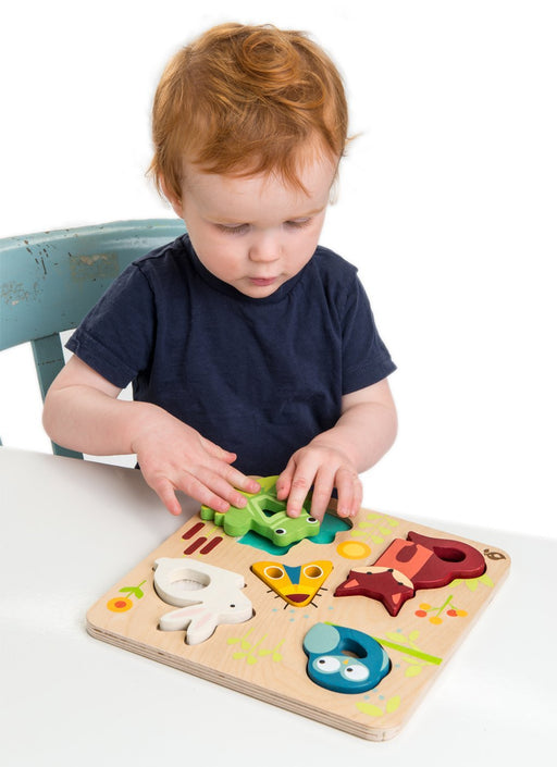 Tender Leaf Toys Touchy Feely Animals Puzzle