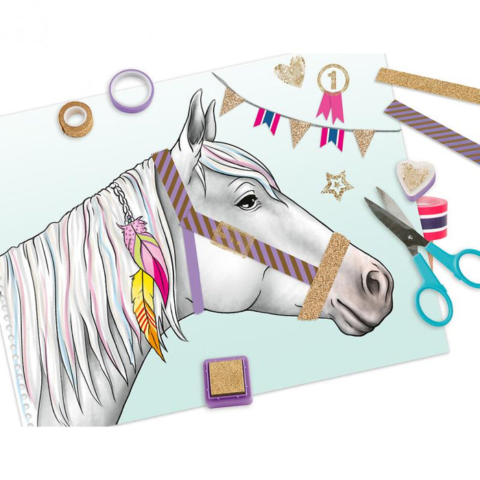 TOPModel Miss Melody Colouring Book With Masking Tapes