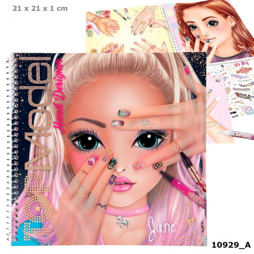 TopModel Create Your Hand Design Colouring Book