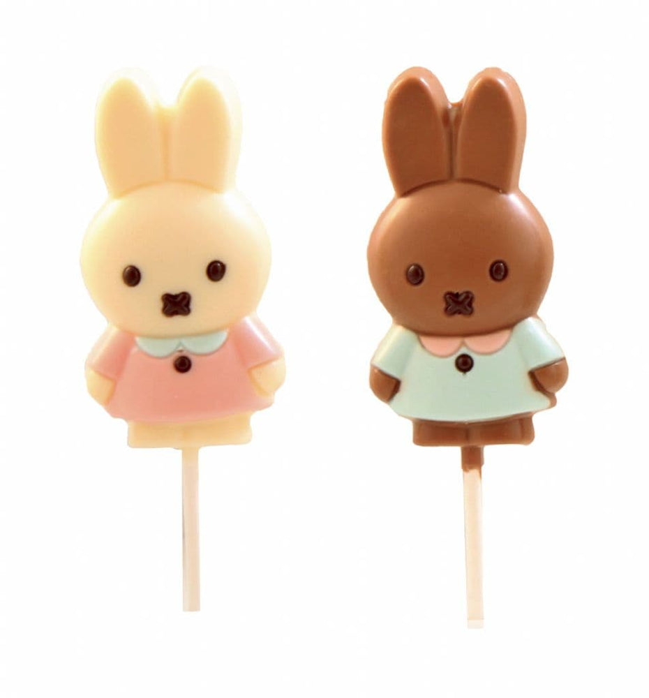Miffy Milk or White Chocolate Bunny Lollipops