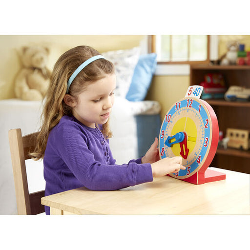 Melissa and Doug Turn and Tell Wooden Clock