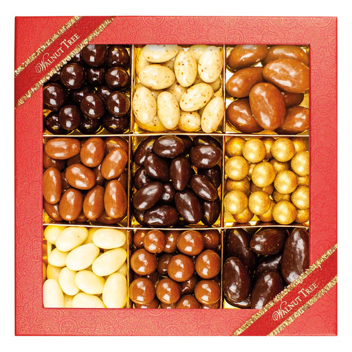 Walnut Tree Nine Section Chocolate Covered Nut Box