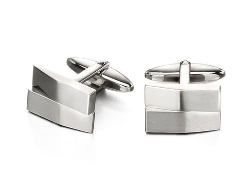 Fred Bennett Brushed And Shiny Rectangle Cufflinks