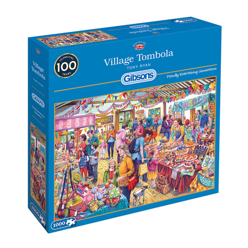 Gibsons Village Tombola 1000pc Jigsaw Puzzle
