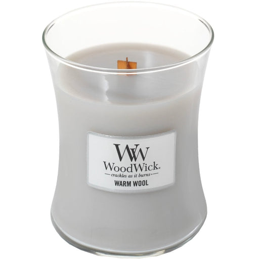 Woodwick Warm Wool Medium Jar Candle