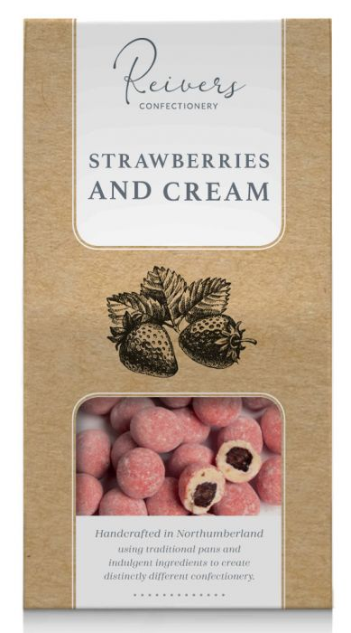 White Chocolate Strawberries 100g