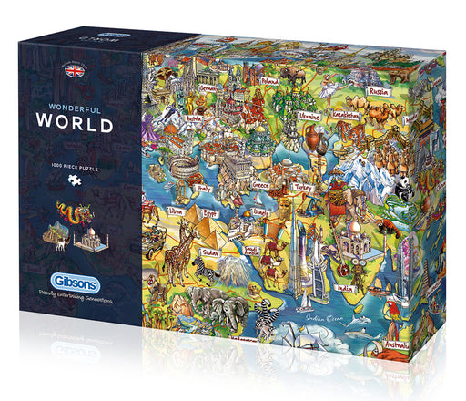 Gibsons Wonderful World 1000pc Jigsaw Puzzle