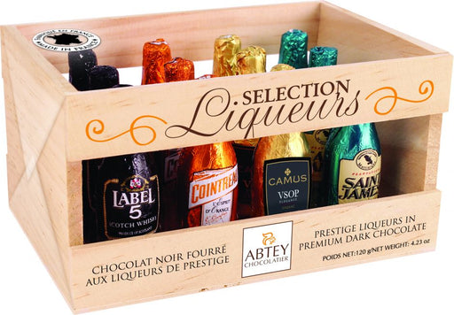 Wooden Crate of 12 Senior Liqueur Bottles