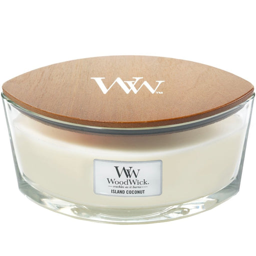 Woodwick Island Coconut Ellipse Jar Candle