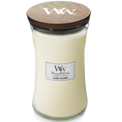 Woodwick Island Coconut Large Hourglass Jar Candle