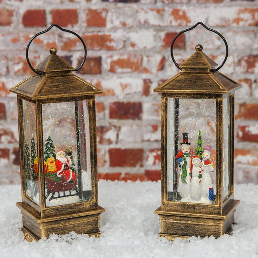 Light Up Character Lantern Santa